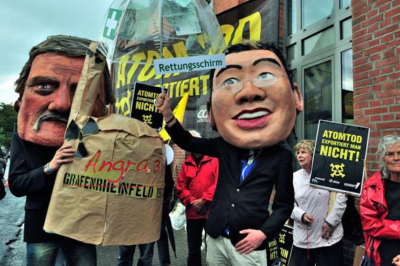 Aktion in Hannover gegen das AKW Angra 3, Fotograf: Sami Atwa