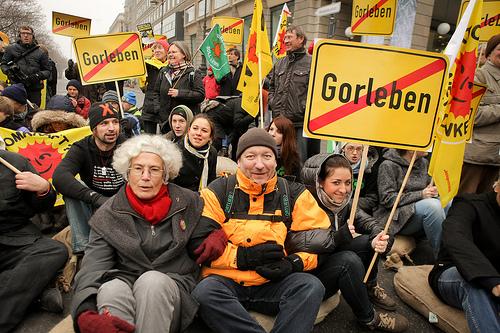 Blockade an der Friedrichstraße