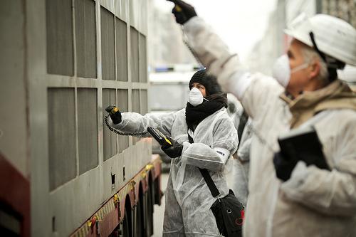 Vorsicht Strahlung: Der Castor rollt durch Berlin!