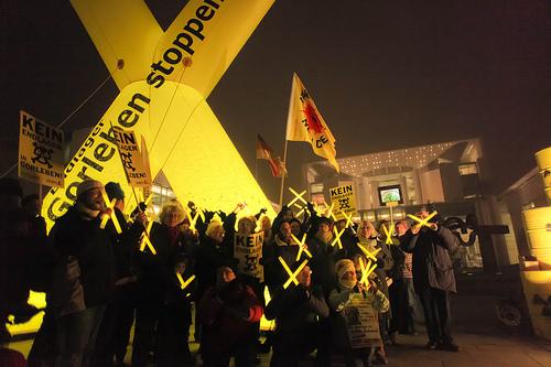 Protest vor dem Bundeskanzleramt