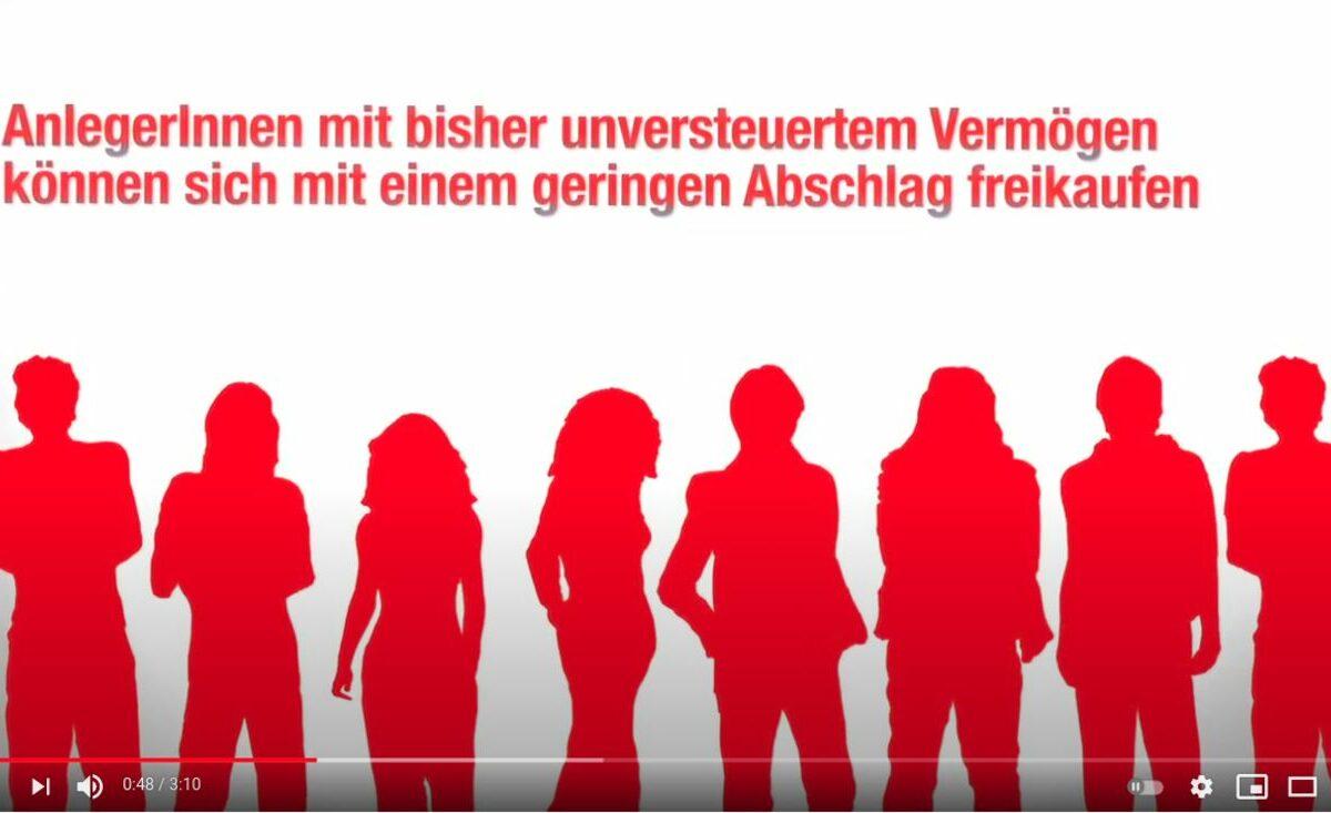 Screenshot YouTube: Campact Petition: Kein Freibrief für Steuerbetrüger