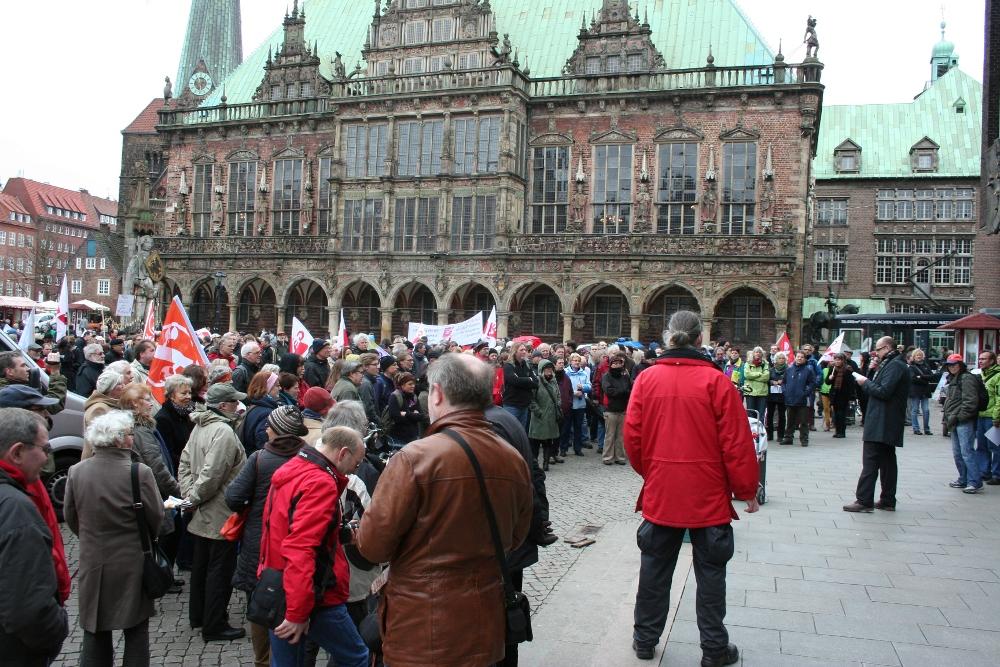 Marktplatz vor der Bürgerschaft