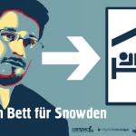Türschild-Snowden-Campact