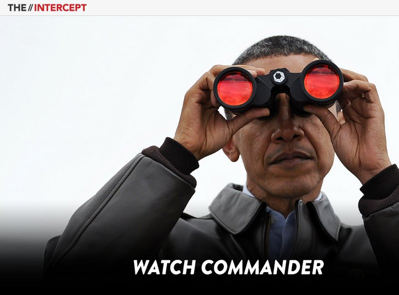 Barack Obama -Screenshot des Nachrichtenportals The Intercept