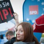 TTIP-Protest bei SPD-Wahlkampf