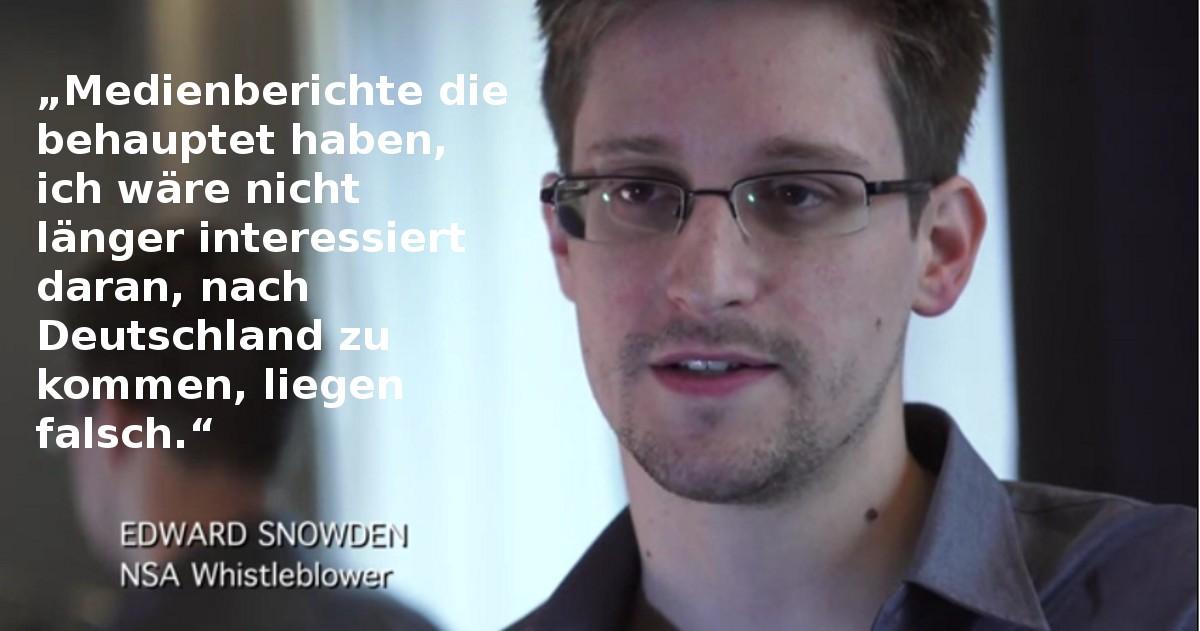 Edward Snowden will nach Deutscland