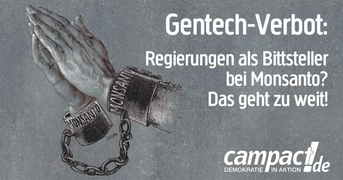 Gentechnik-Verbot ohne Segen der Konzerne!