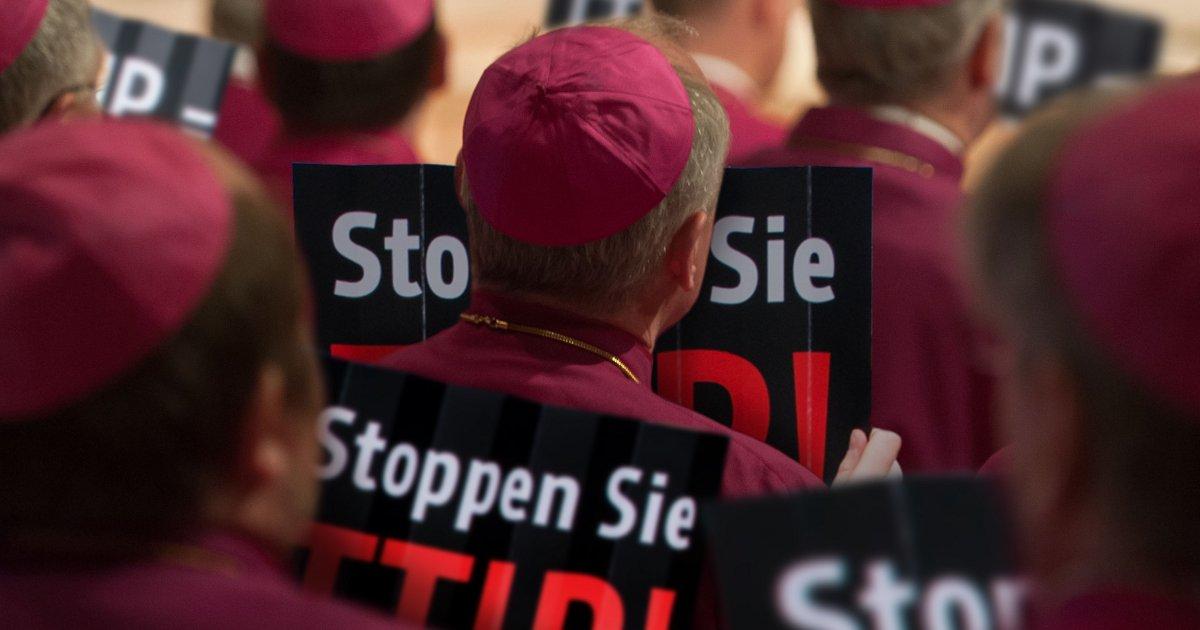 Deutsche Bischöfe: TTIP-skeptisch / Fotomontage by Zitrusblau