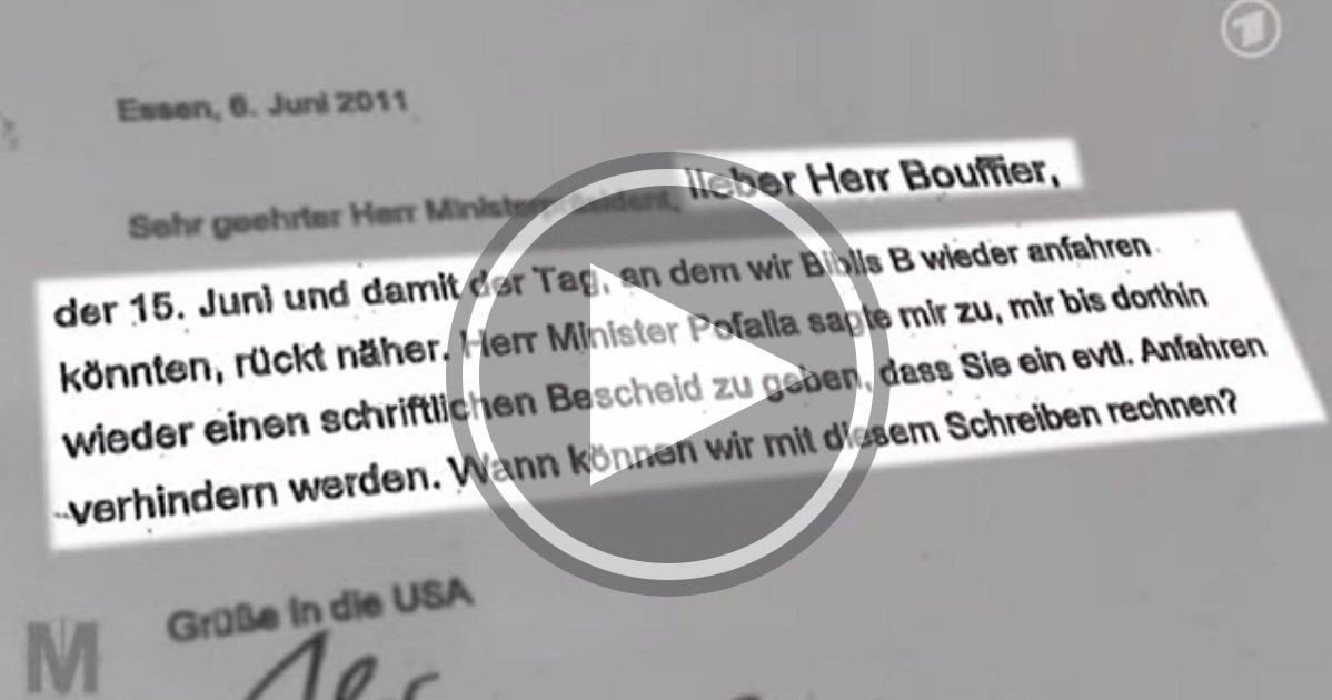 Brief des ehemaligen RWE-Chefs Jürgen Großmann an Bouffier