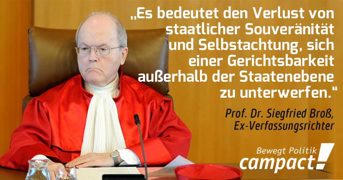 Grafik Ex-Verfassungsrichter mit Zitat