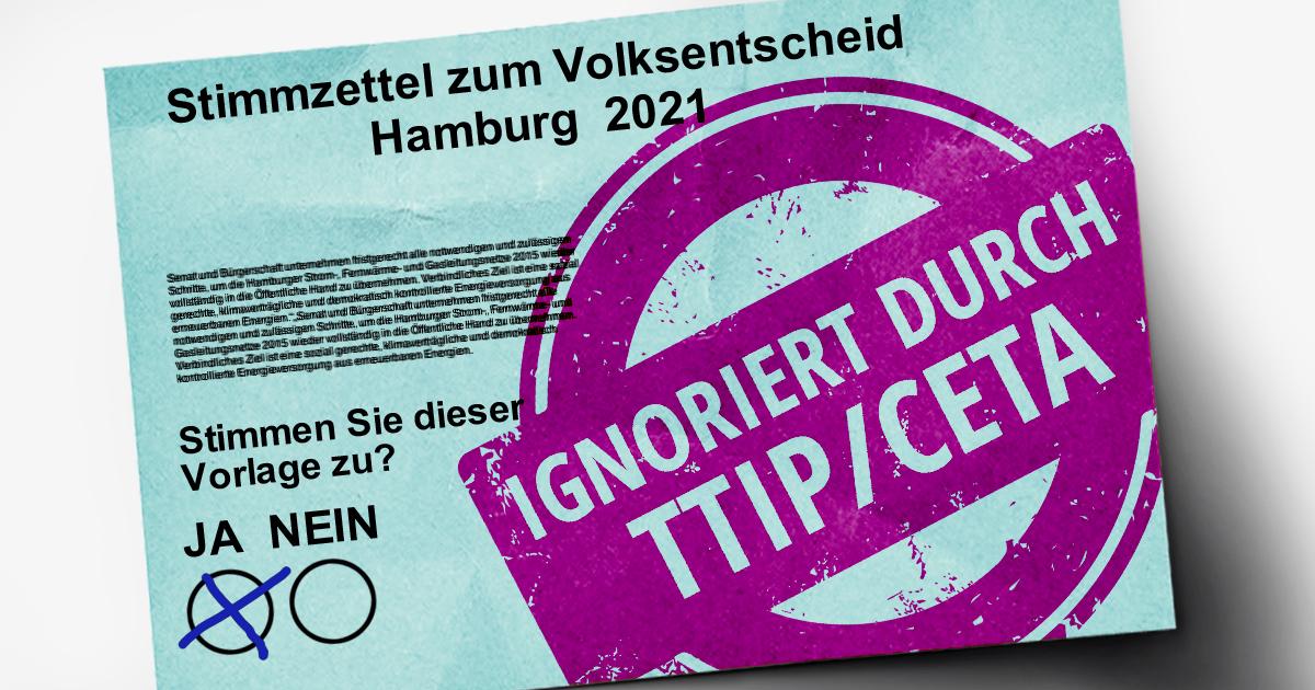 Zukunftspost aus Hamburg: Mit TTIP & CETA werden Volksentscheide ignoriert