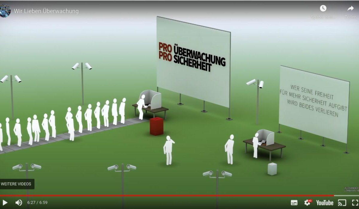 Screenshot Youtube - Überwachungsstaat ausbremsen! Gegen Überwachung, Solidarität für Snowden.