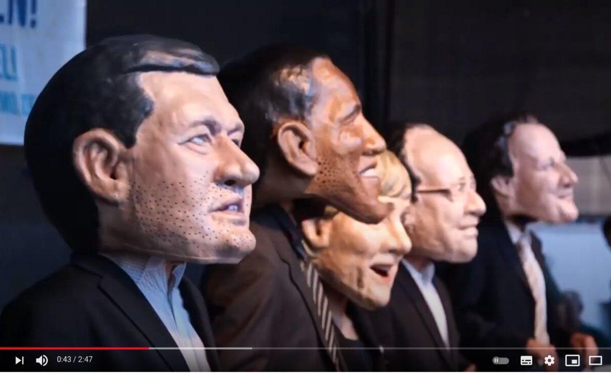 Screenshot YouTube: 40.000 Demonstrieren bei G7 in München