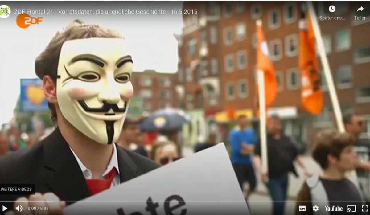 Screenshot Youtube: ZDF Frontal 21 Vorratsdatenspeicherung