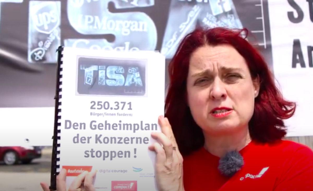 Videovorschau: Besuch bei TiSa Geheimverhandlungen.