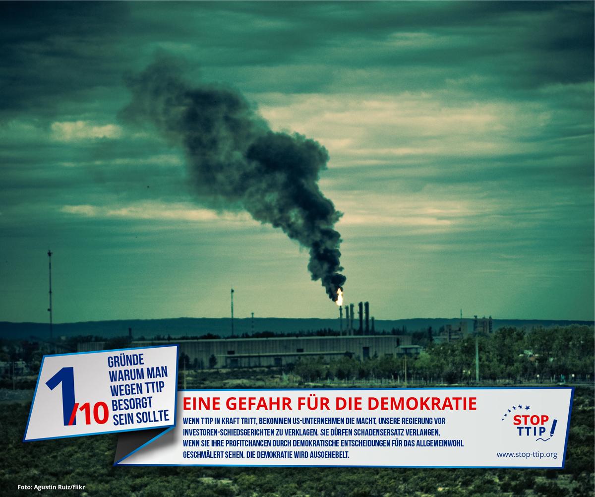 TTIP: Eine Gefahr für die Demokratie. Grafik: stop-ttip.org