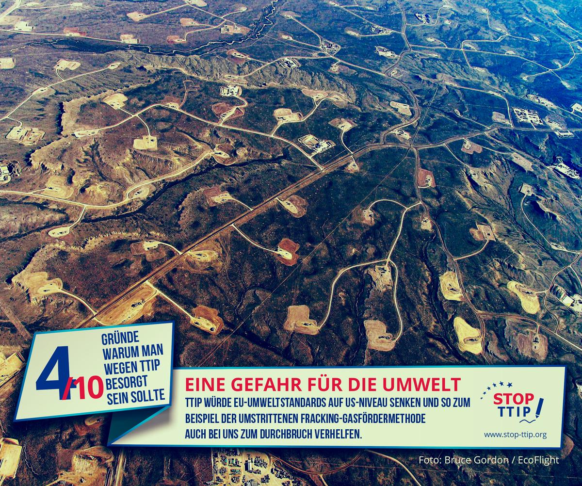 TTIP: Gefahr für die Umwelt. Grafik: stop-ttip.org