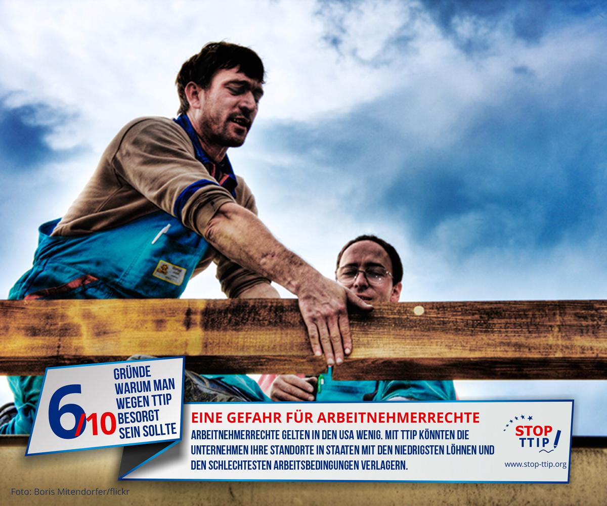TTIP: Gefahr für Arbeitnehmerrechte. Grafik: stop-ttip.org