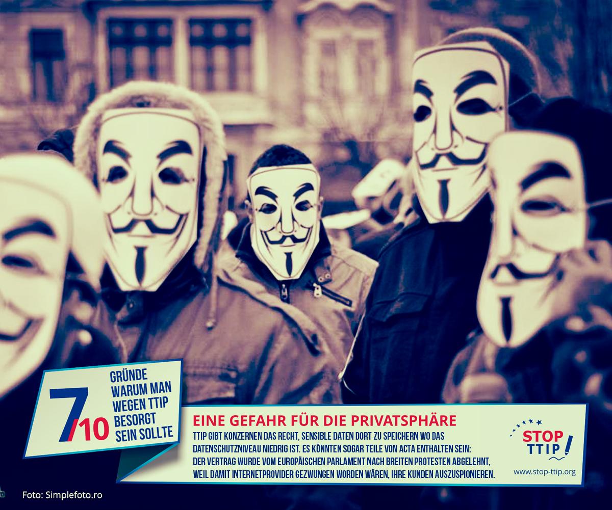 TTIP: Gefahr für die Privatsphäre. Grafik: stop-ttip.org