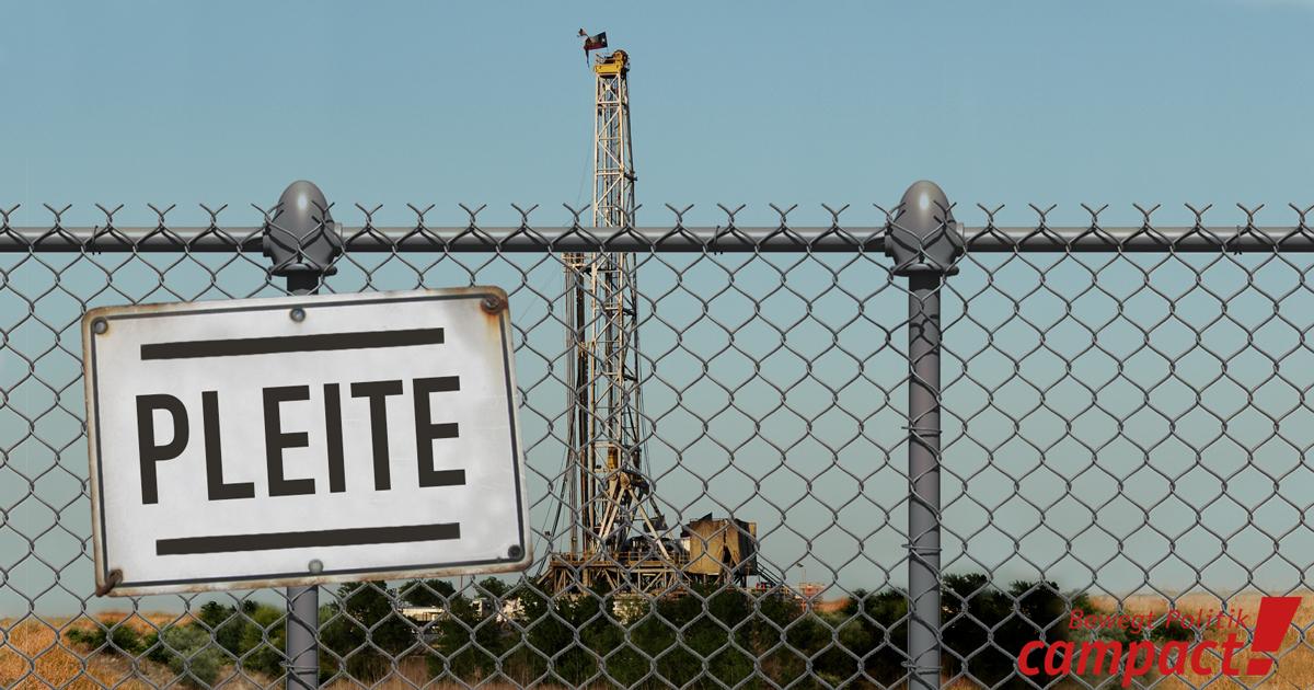 Pleitewelle bei Fracking-Unternehmen in den USA. Grafik: Campact/Sascha Collet [CC BY-NC 2.0]