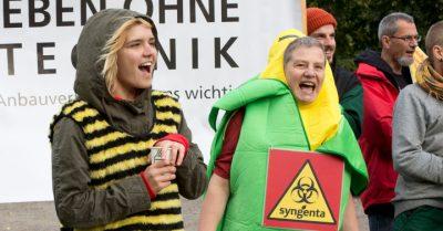 Aktion gegen Gentechnik in Niedersachsen. Foto: Campact