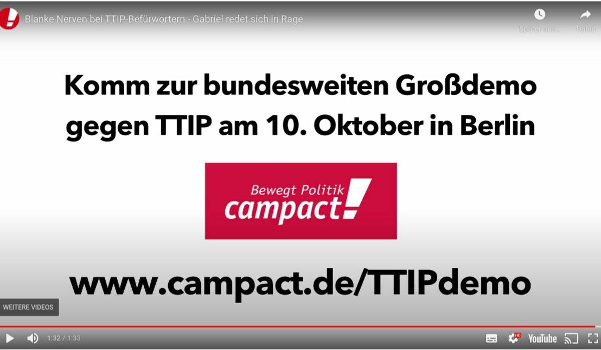 Großdemo gegen TTIP am 10. Oktober in Berlin