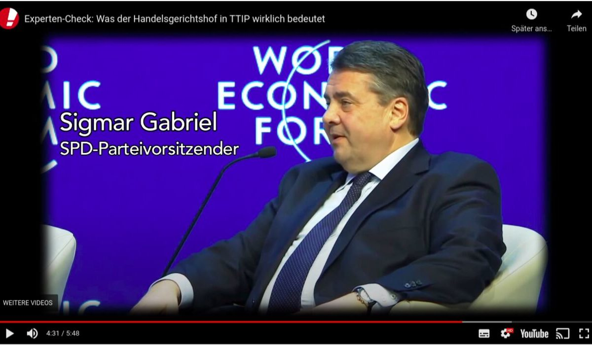 YouTube-Screenshot: Was bedeuten Handelsgerichte in TTIP?
