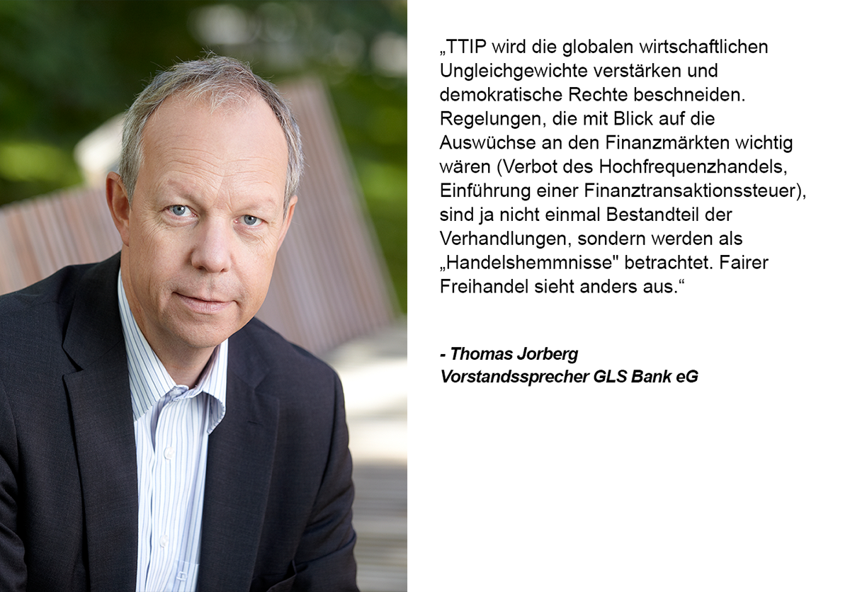 Zitat von Thomas Jorberg. Grafik und Copyright: UnternehmensGrün
