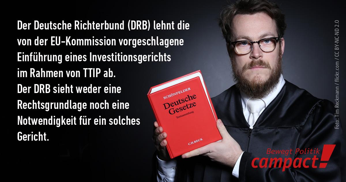 Deutscher Richterbund gegen ICS Investitionsgericht