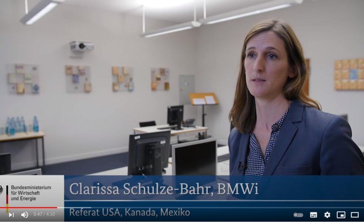 YouTube-Screenshot: Clarissa Schulze-Bahr im Interview - TTIP-Leseraum wird eröffnet