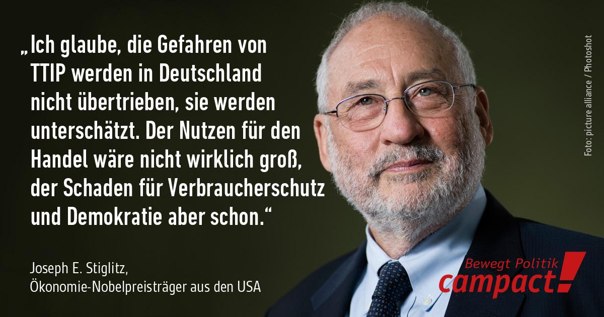 J. Stiglitz äußert sich zu TTIP