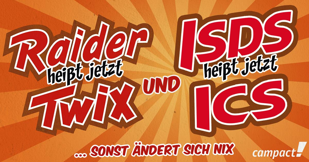 ISDS heißt jetzt ICS - sonst ändert sich nix. Grafik: Sascha Collet/Campact