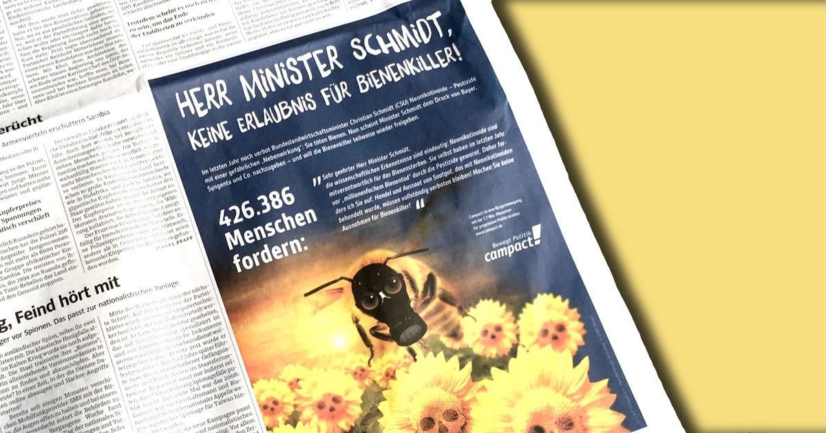 Unsere Anzeige in der Süddeutschen Zeitung