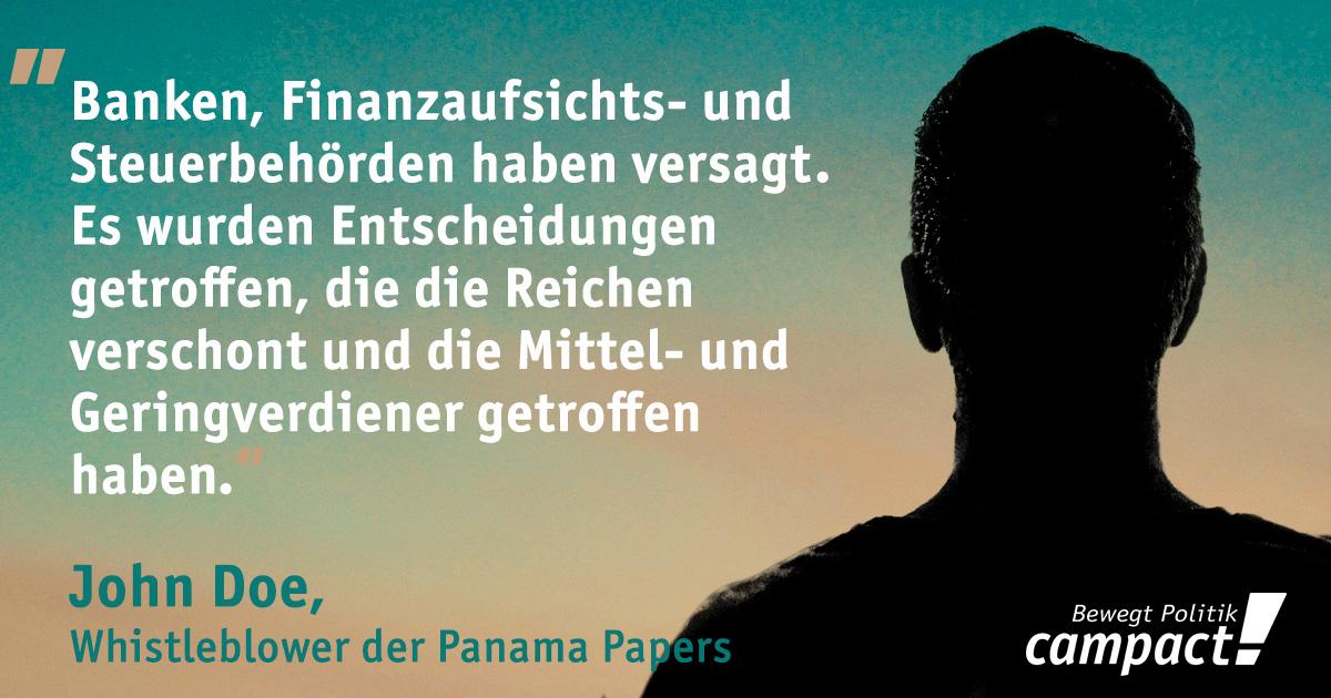 Die Quelle der Panama Papers meldet sich zu Wort. Grafik: Sascha Collet/Campact [CC BY-ND 2.0]