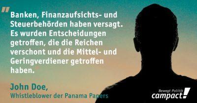 Der Whistleblower der Panama Papers meldet sich zu Wort. Grafik: Zitrusblau/Campact