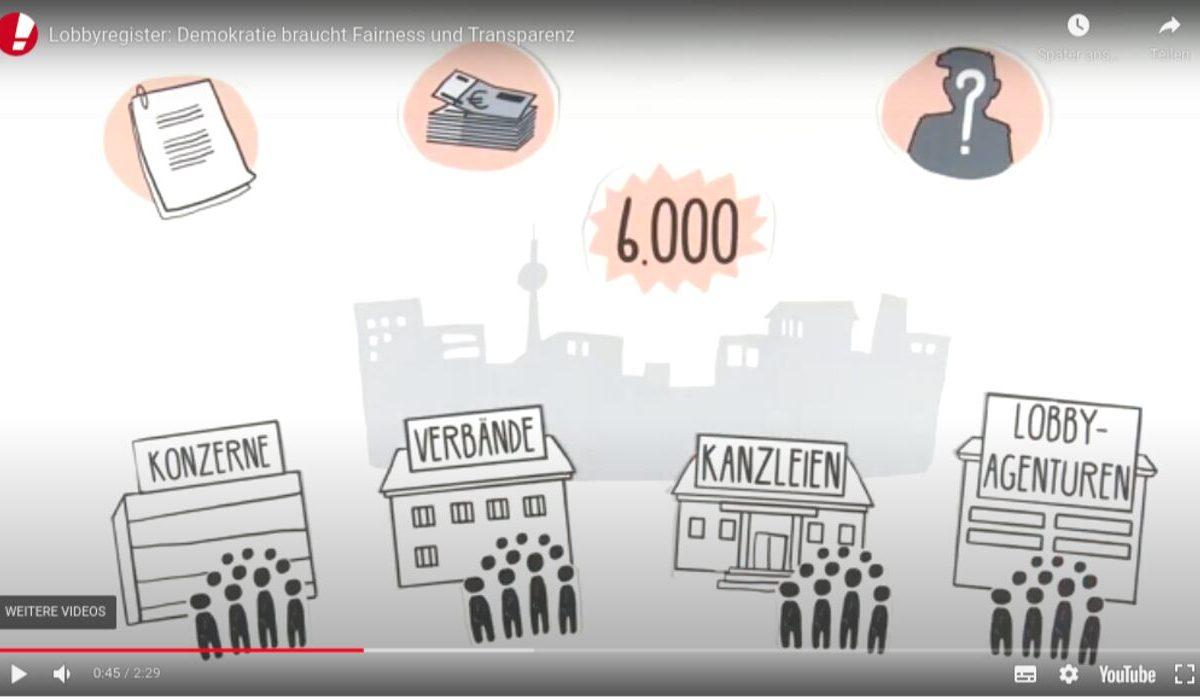 YouTube-Screenshot - Lobbyregister: Warum Demokratie Transparenz und Demokratie braucht.