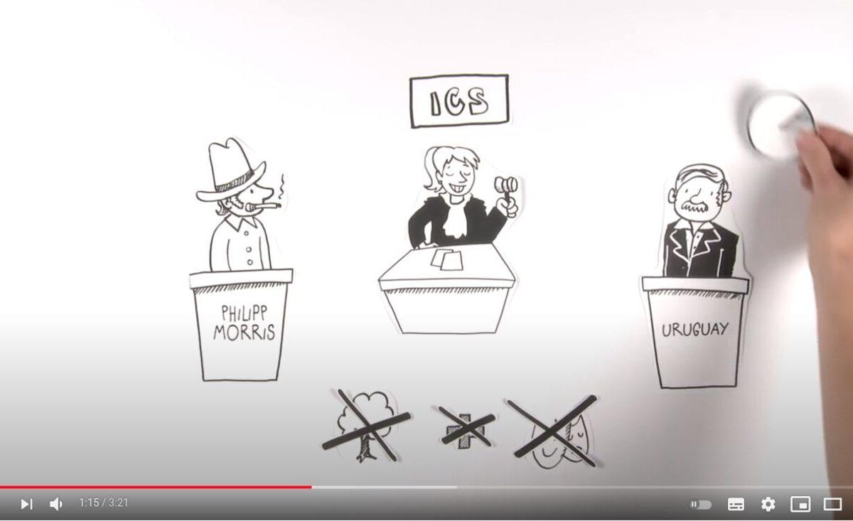 YouTube-Screenshot: Pseudo-Gericht soll TTIP retten
