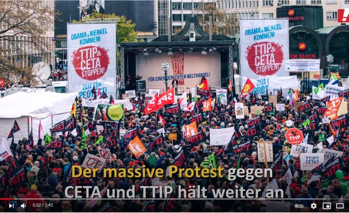 Protest gegen CETA und TTIP: Keine Entmachtung des Budnestags!