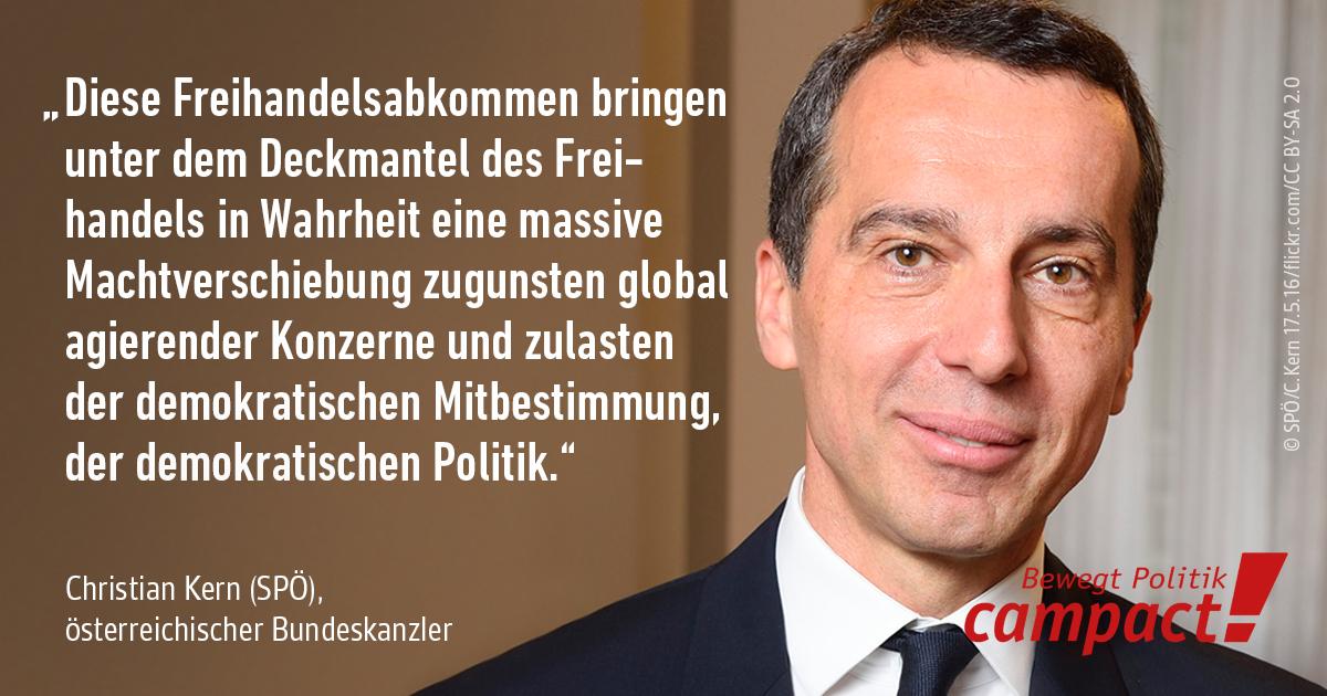 Zitatgrafik SPÖ Bundeskanzler Christian Kern