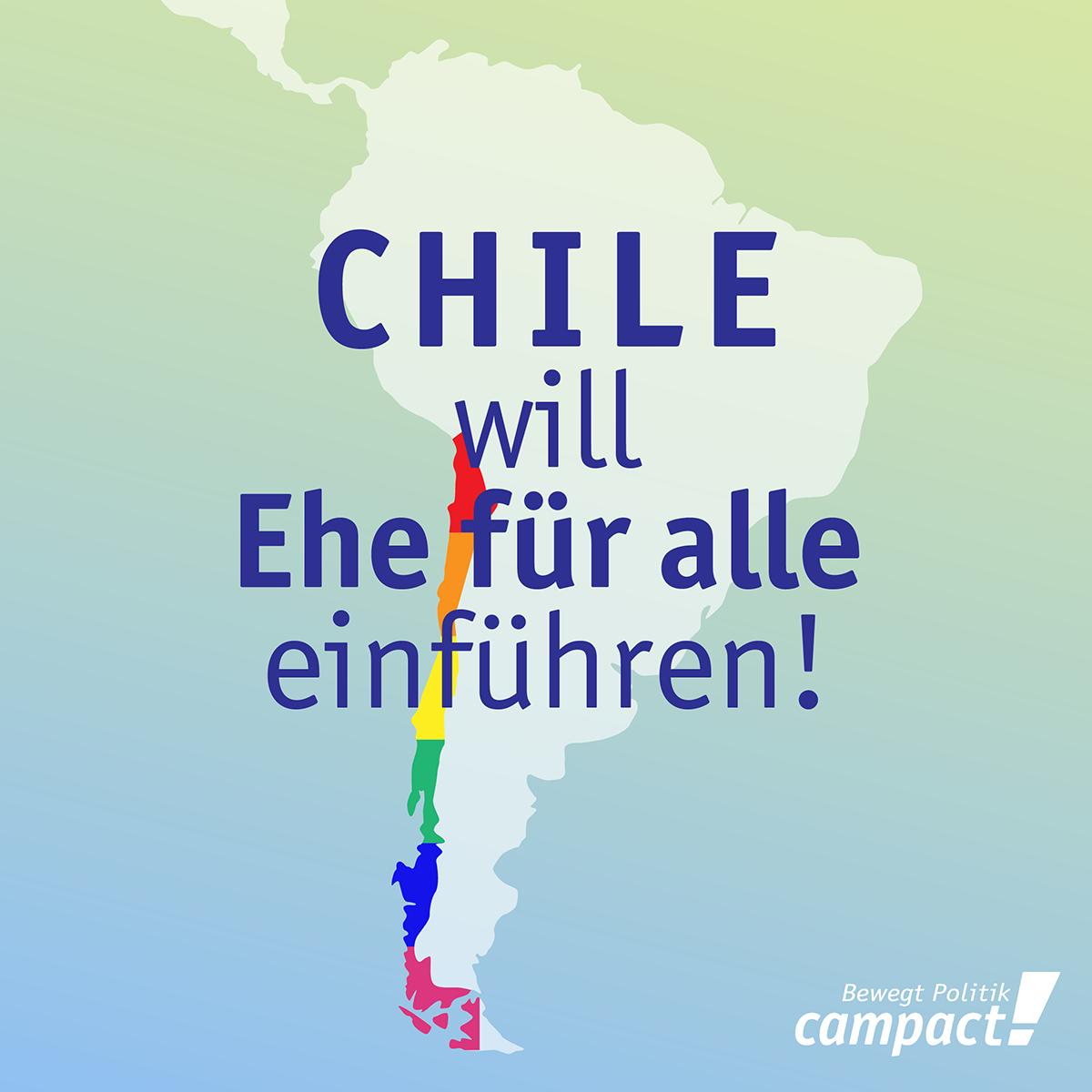 Chile will 2017 die Ehe für alle Einführen. Grafik: Dirk Heider/Campact