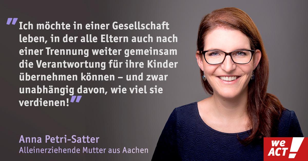 Anna Petri-Satter will die Lebenssituation für Trennungsfamilien im Hartz-IV-Bezug verbessern.