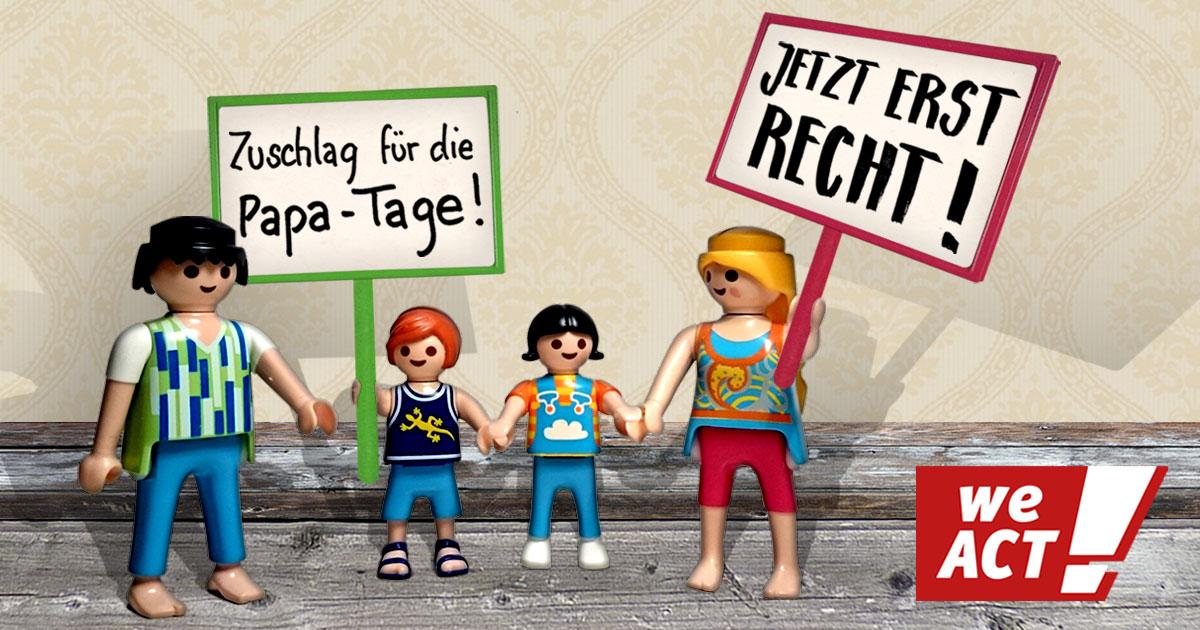 Umgangsmehrbedarf bei Hartz IV - WeAct-Petition. Grafik: Sascha Collet/WeAct