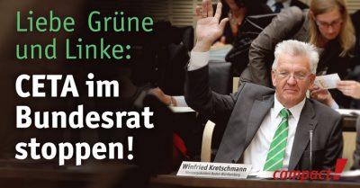 Grüne und Linke können CETA im Bundesrat stoppen. Grafik: Sascha Collet/Campact
