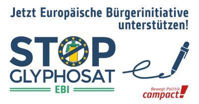 Glyphosat mit einer Europäischen Bürgerinitiative (EBI) verbieten. Grafik: Zitrusblau/Campact (CC)