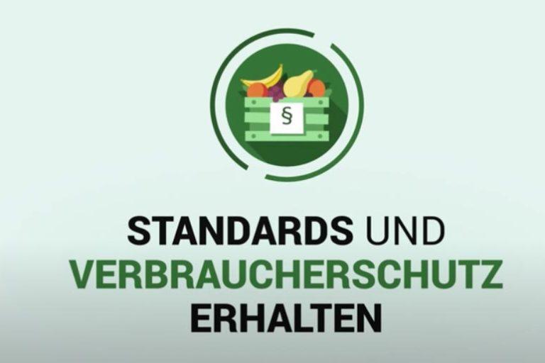 Forderung 1: Handelspolitik darf hohe Standards und Verbraucherschutz nicht einschränken