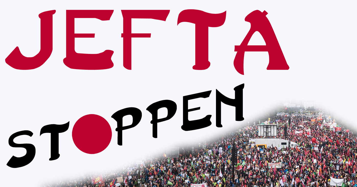 JEFTA-Abkommen stoppen. Grafik: Campact/Rupert Richter