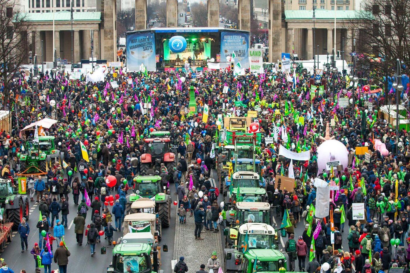 Tausende Menschen protestierten in Berlin für eine Agrarwende
