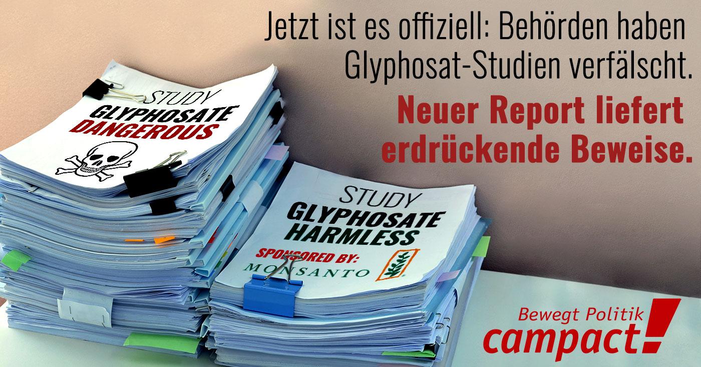 Glyphosat-Studien sind gefälscht. Neuer Report liefert Beweise.