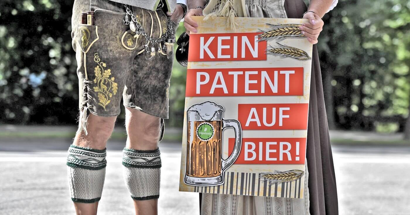 Kein Patent auf Bier. Protestaktion in München