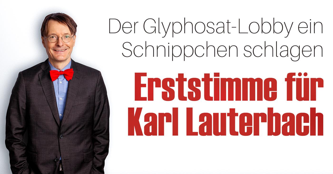 Erststimme für Karl Lauterbach / Campact e.V. [CC BY-ND 2.0]
